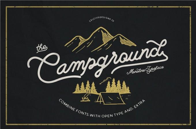 Camp Ground Adventure typeface