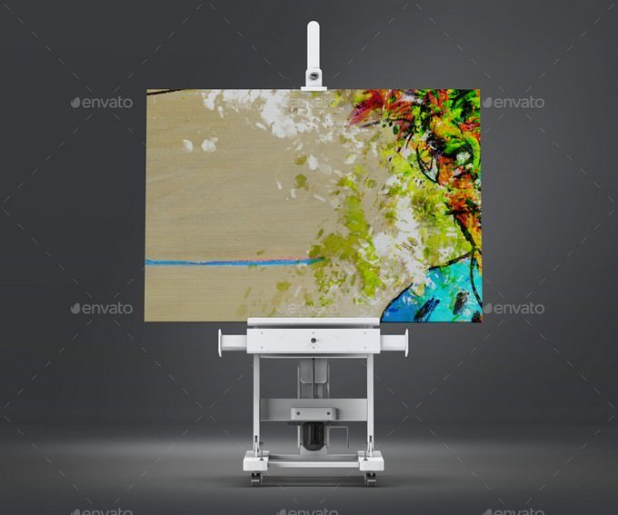 Canvas Art on Easel