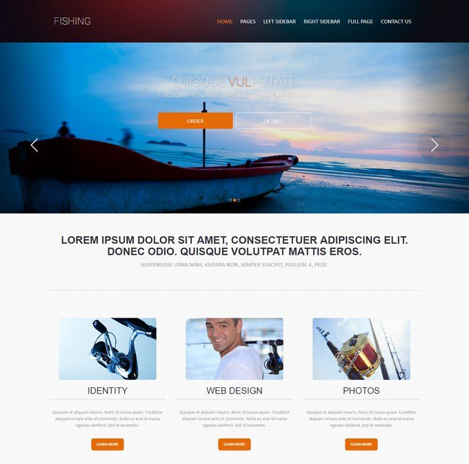 Commercial Fishing Web Template