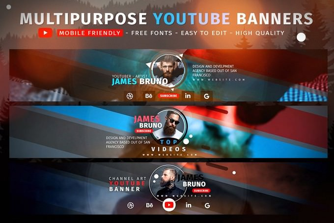 Creative MultiPurpose YouTube Banners