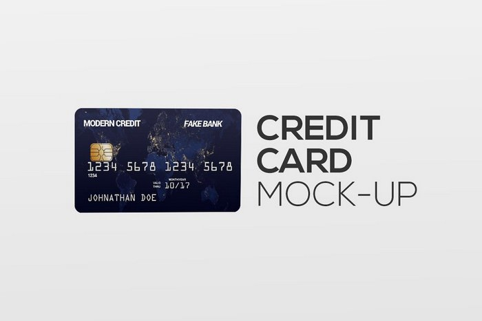 Credit Card in Hand Mock-Up