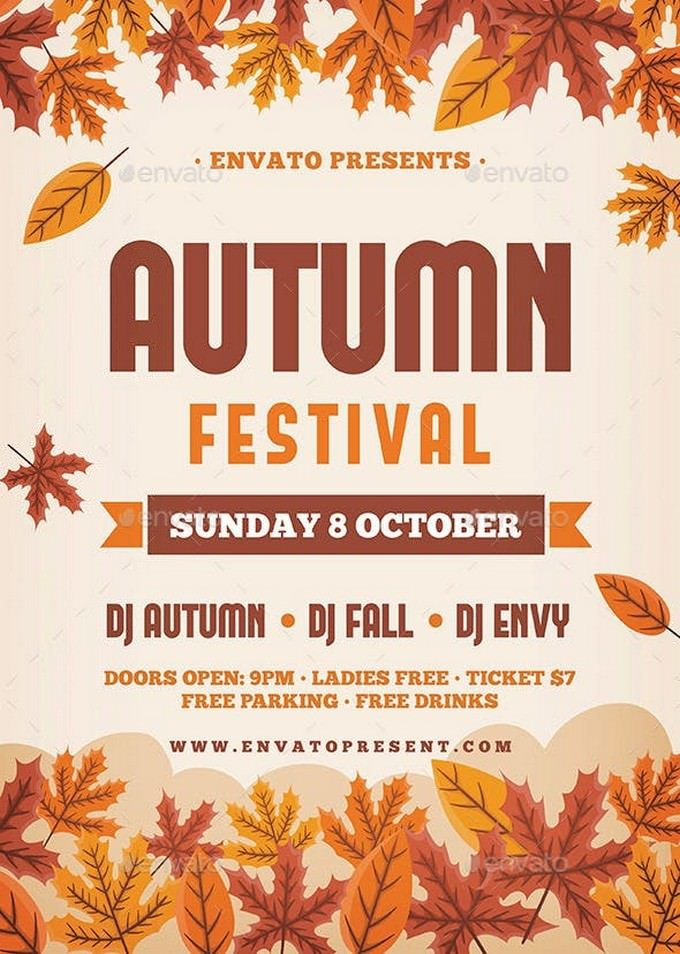 Dj Autumn Festival Flyer
