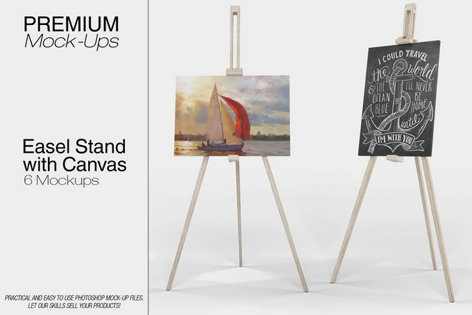 Easel Stand with Canva
