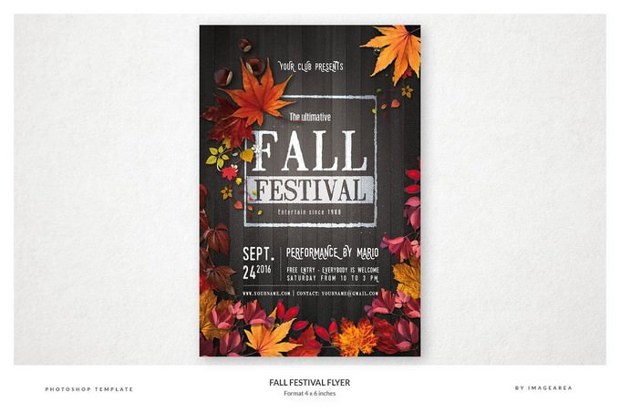 Fall Festival Flyer Performance By Mario