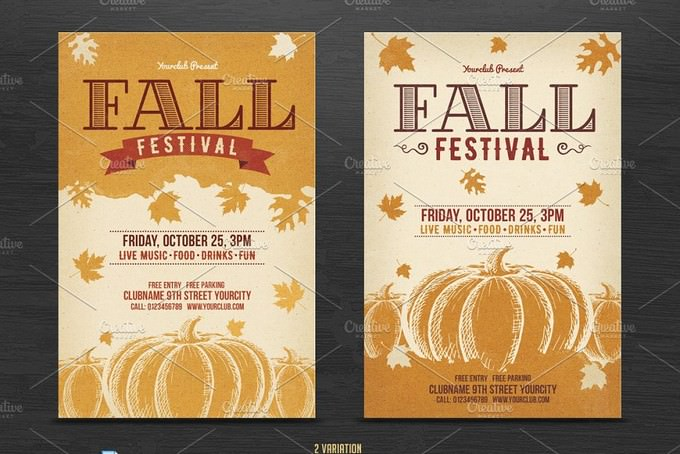 Fall Festival Friday Flyer Template