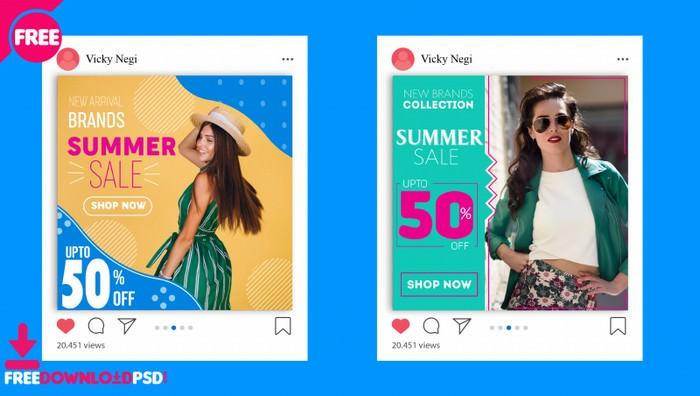Fashion Social Media Template psd