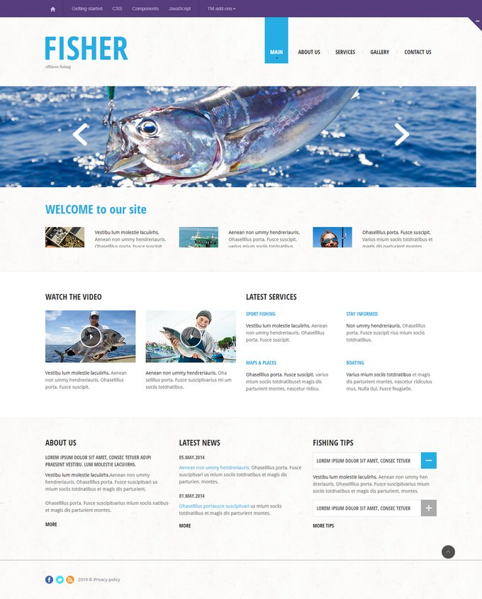 Fisher Responsive Website Template
