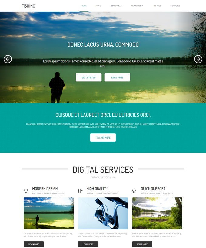 Fishing HTML Template Free
