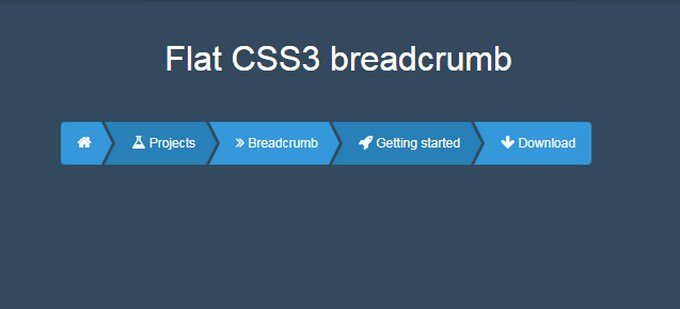 Flat CSS3 Breadcrumb