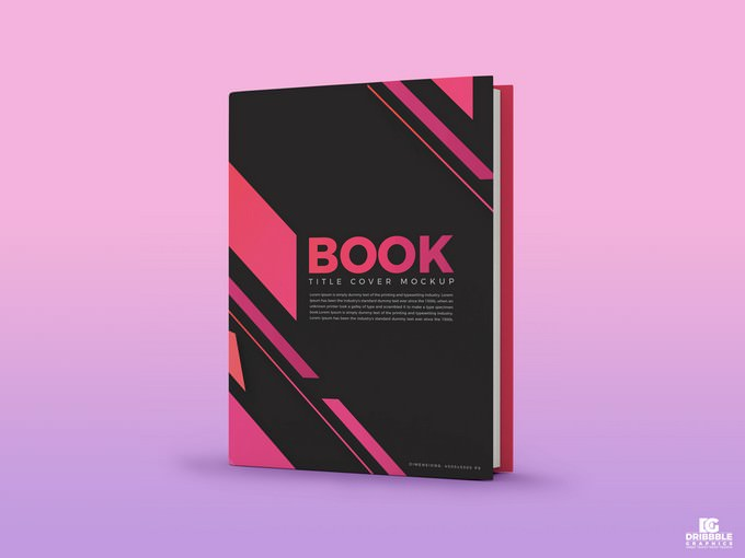 Free Book Title Cover Mockup PSD