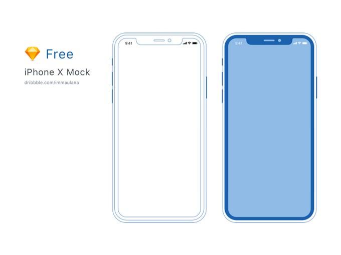Minimal iPhone X Mockup