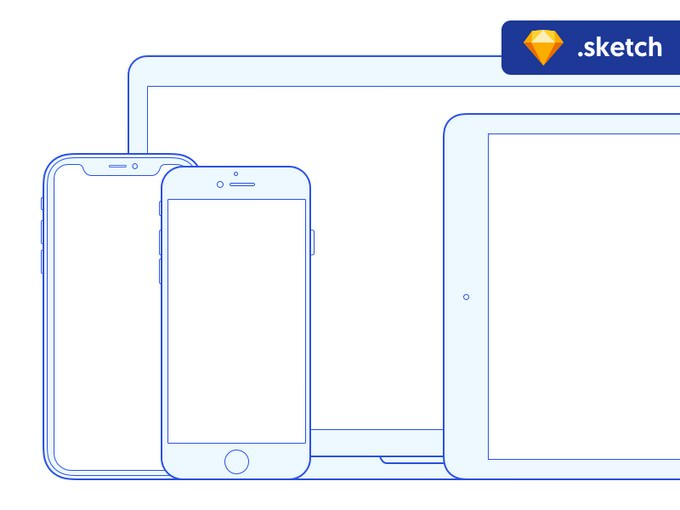 Free Sketch Mockups Apple Devices
