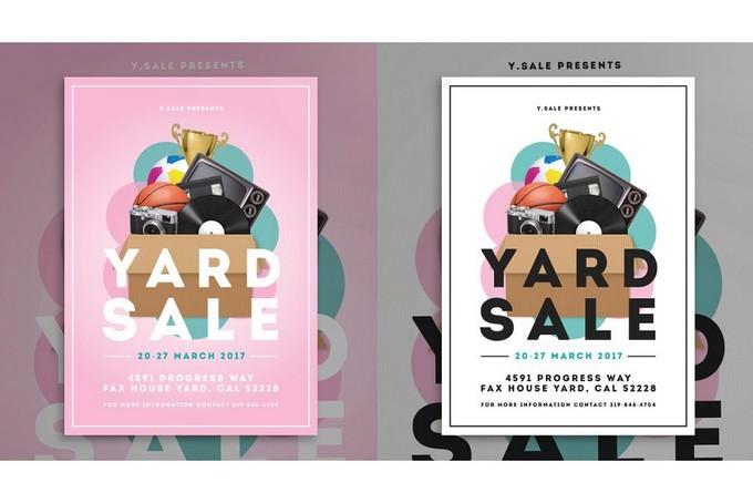 Yard Garage Sales Flyer Templates