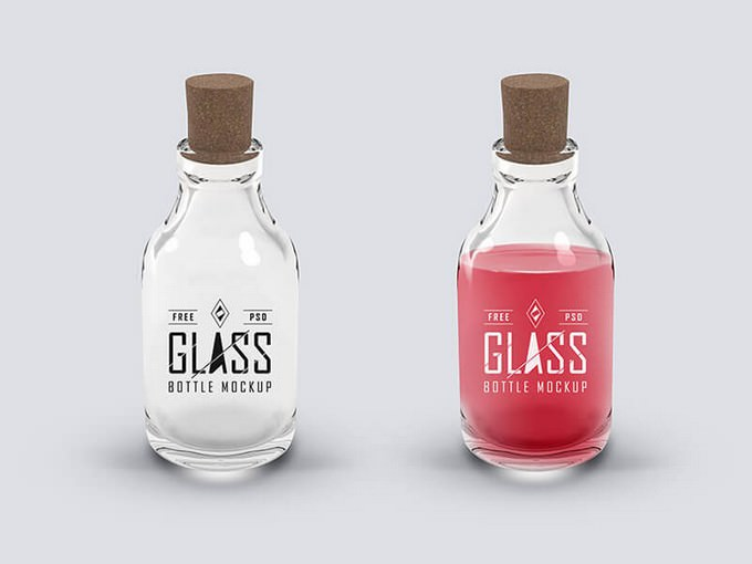 Glass Bottle Mockup