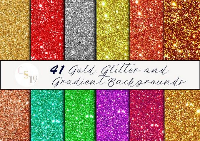 Glitter & Gradient Backgrounds