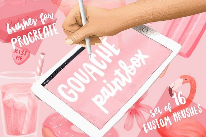 Set of 16 Custom Gouache Paintbox