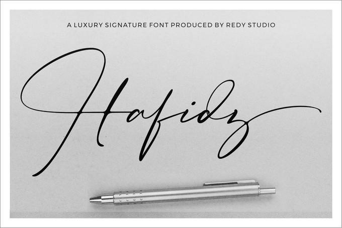 Hafidz Luxury Signature Font