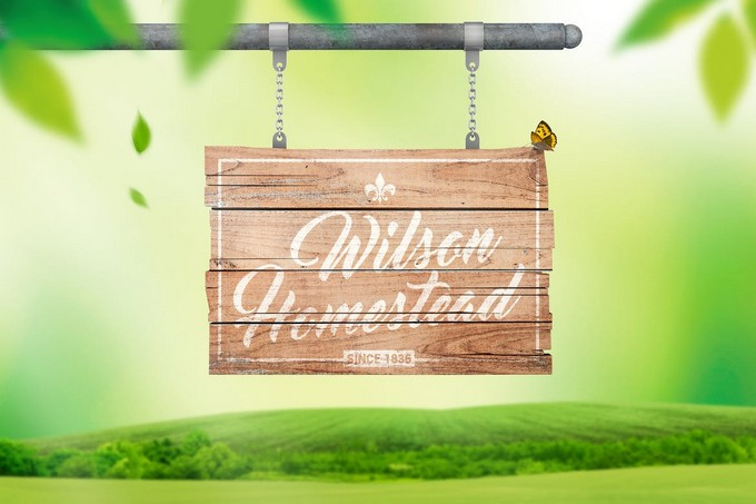 Hanging Wooden Sign Mockup