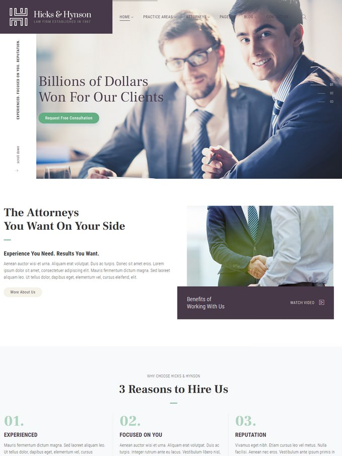 Law Firm HTML Template