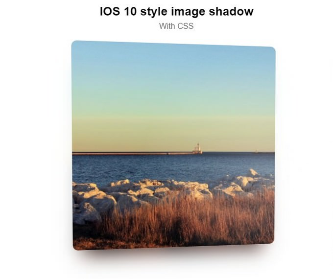 IOS 10 STYLE SHADOWS - With CSS
