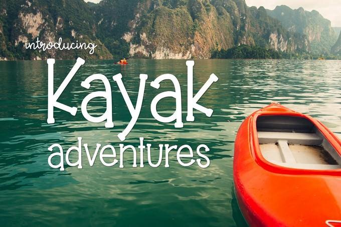 Kayak Adventures typeface