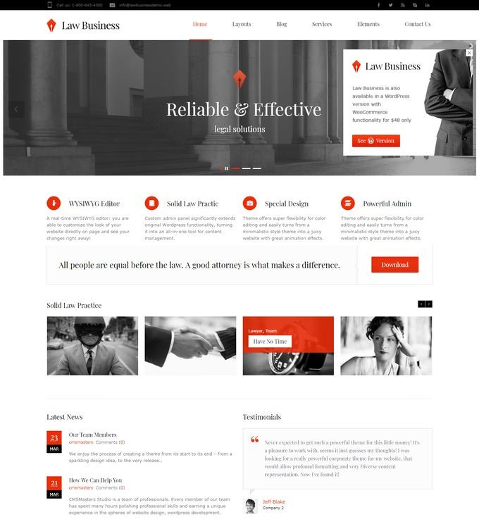 Law Business HTML5 Template