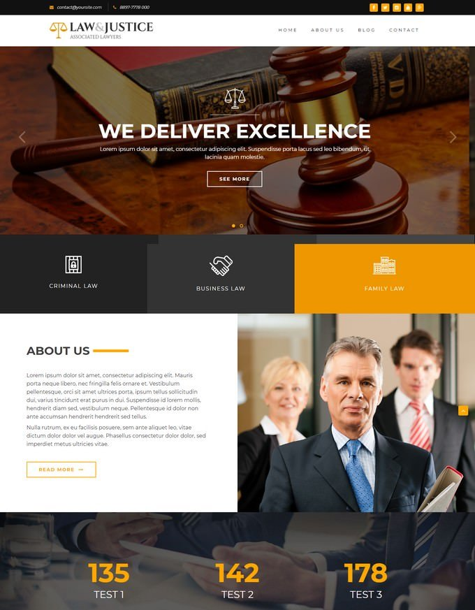Law Attorney Lawyer HTML5 Template