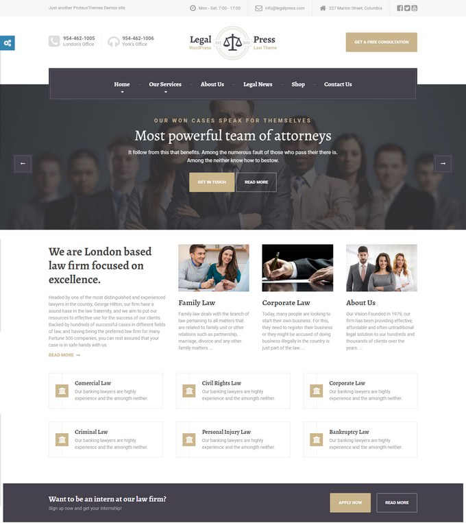 Law Attorney Legal HTML Template
