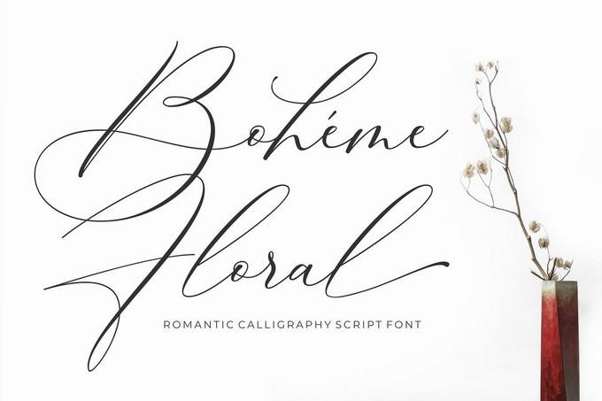Luxury Font - Boheme Floral