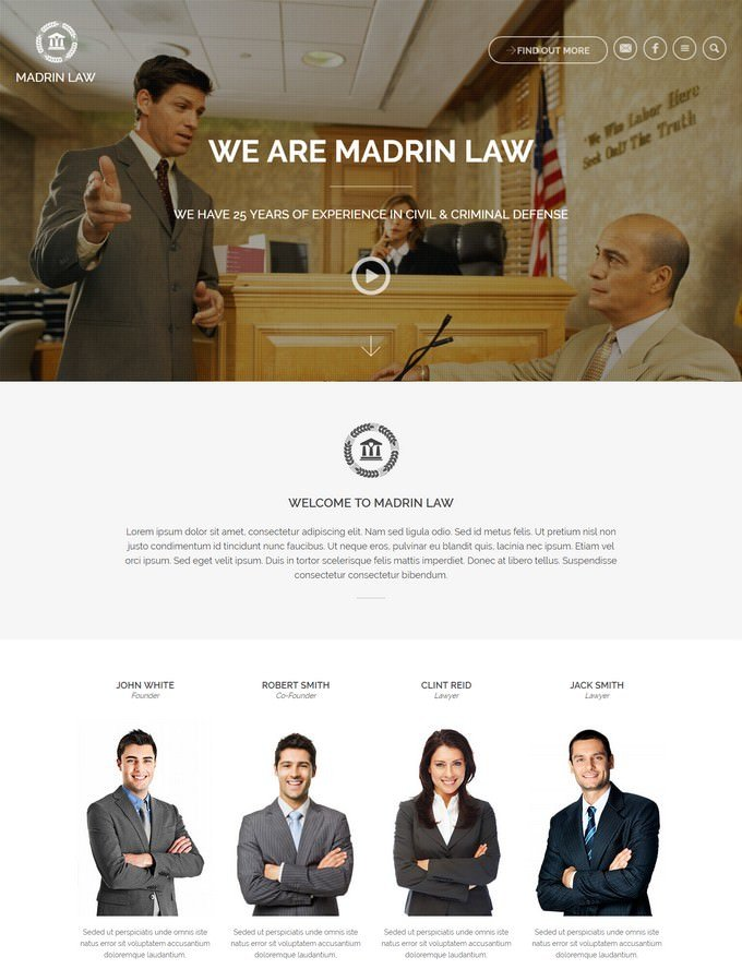 Madrin One Page Law
