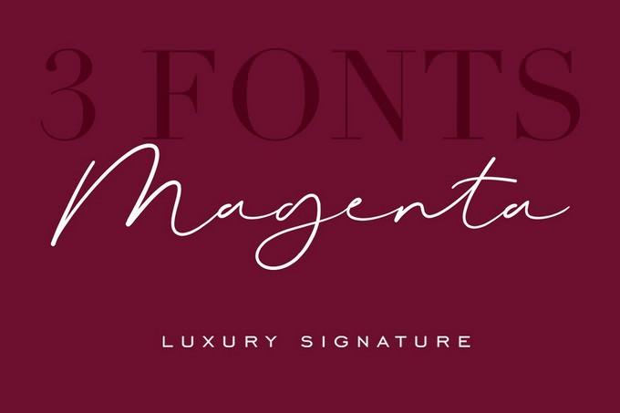 Magenta Luxury Signature Font