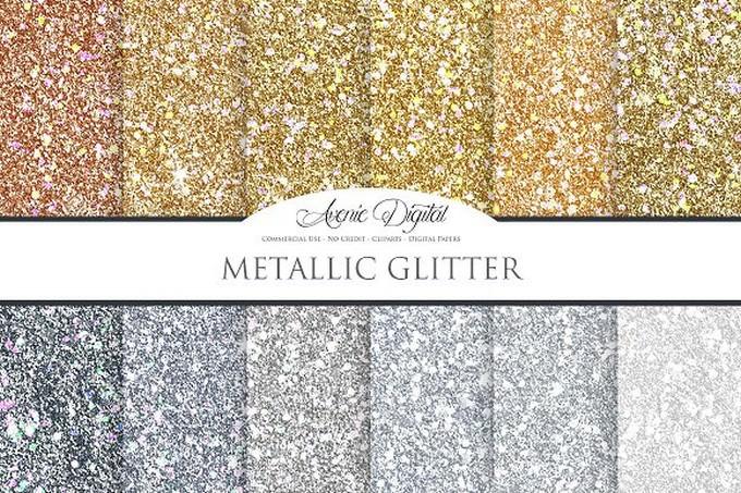 Metallic Glitter Background Textures