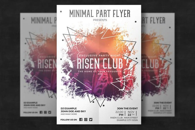 Minimal flyer templates Party