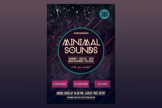 Minimal Sounds Flyer Poster