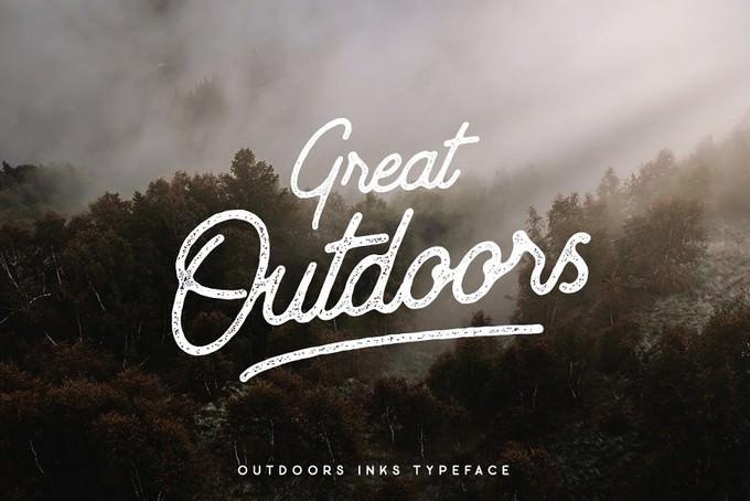 Outdoors Inks Adventure Typeface