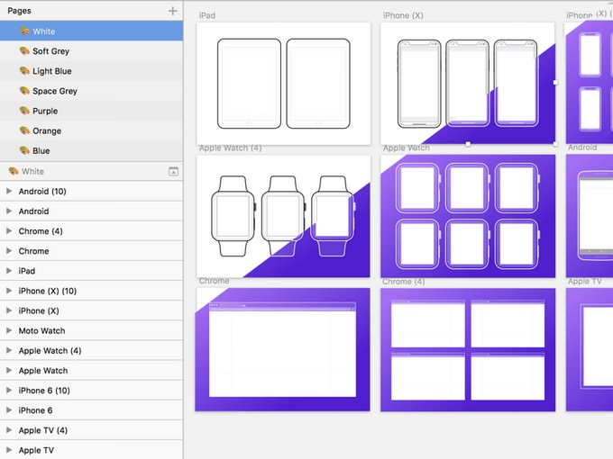 Outline Mockups for Wireframing Sketch Resource
