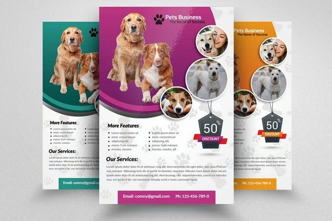 Pet Shop Business Flyer