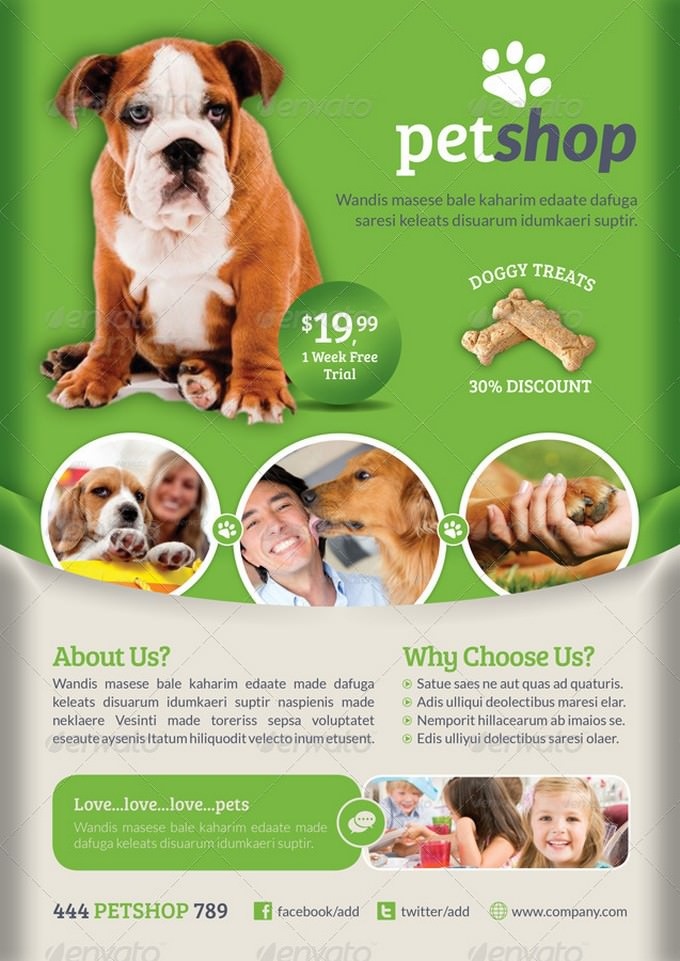 22 Best Pet Flyer Template Designs 2019 Templatefor