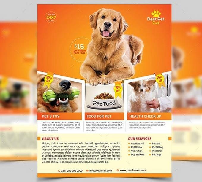 Pets Shop Flyer