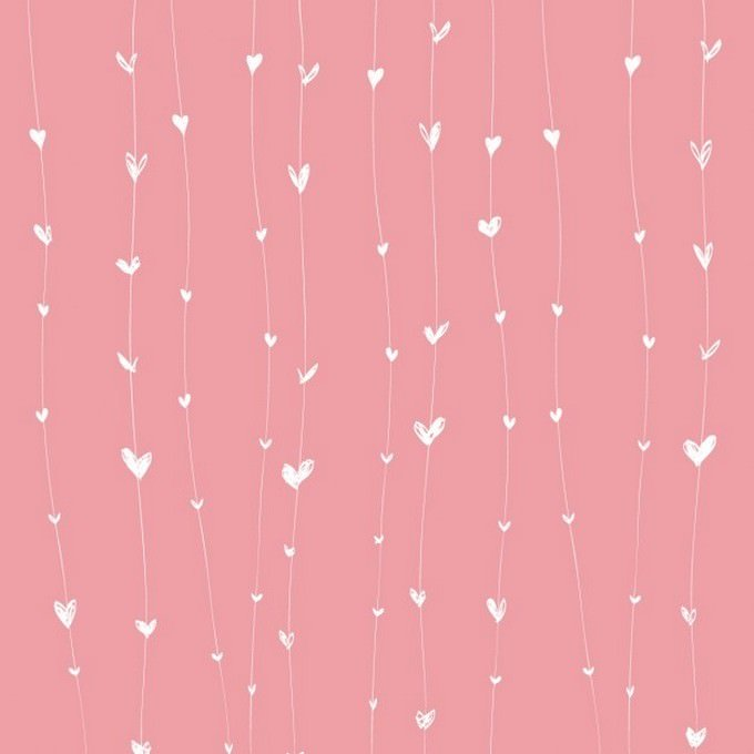 Pink Background With Heart Line