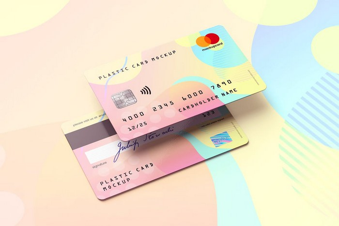 Plastic Card Bank Card MockUp