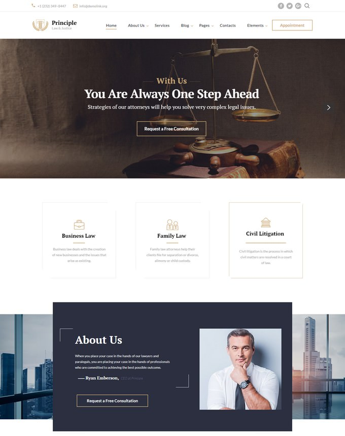 Law Ready-to-Use Website Template
