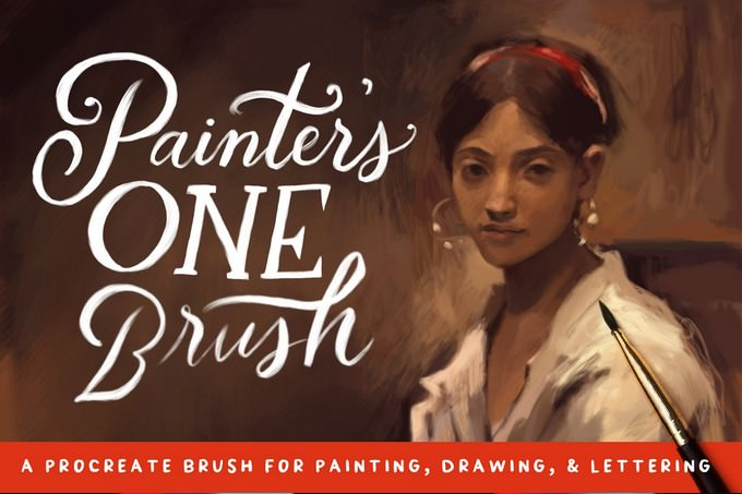 Painter's One Brushes Drawing and lettering