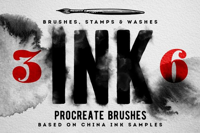 Procreate Ink brushes , set of 36