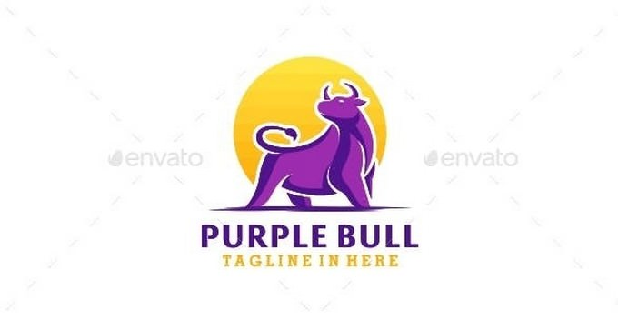 Purple logo template