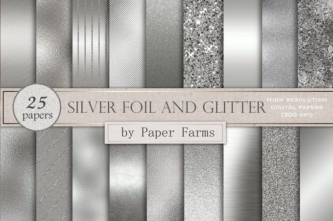 Silver Foil And Glitter