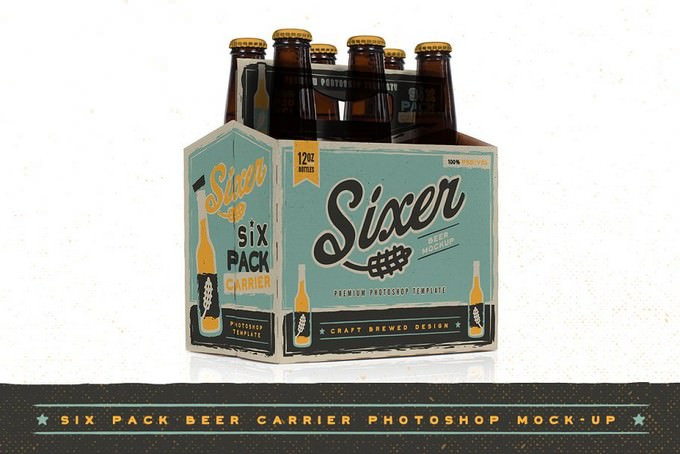 Six pack beer bottle carrier Mock-Up