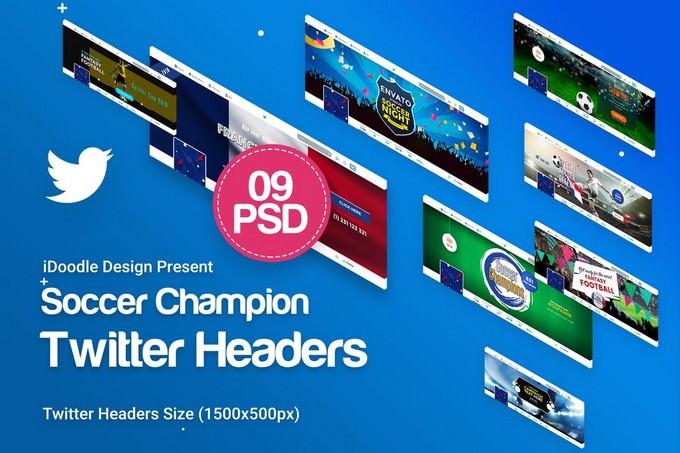 Soccer Twitter Headers PSD