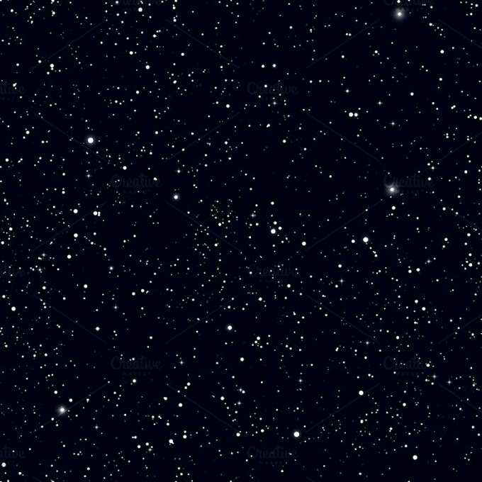 Space with Stars Background