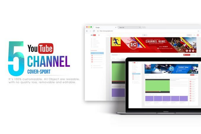 Sport Channel Youtube Banner Template